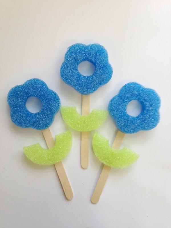 Pool Noodle Flower Craft for Kids
