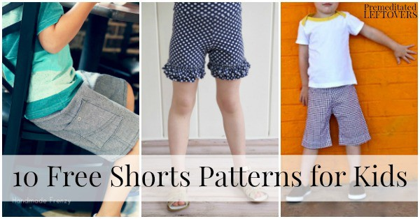 10 Free Shorts Patterns for Kids