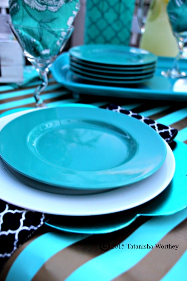 Outdoor Girls' Luncheon Tablescape Place Setting