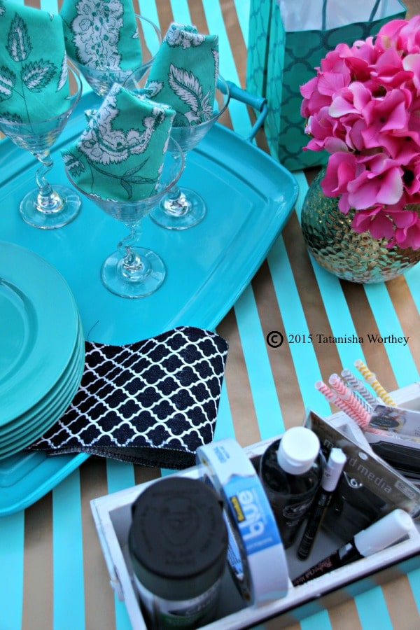 Girls Lunch and DIY Chalkboard Wine Glasses Supplies