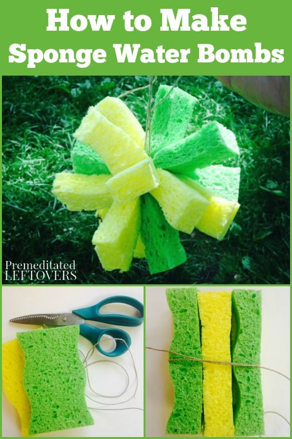 How to make sponge water bombs with sponges and twine