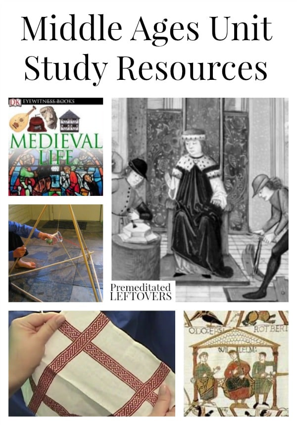 Middle Ages Unit Study Resources including books about the Middle Ages for kids, Middle Ages lesson plan ideas, educational videos and crafts.