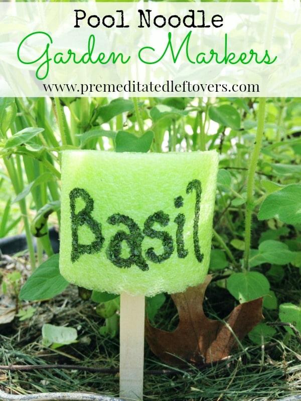 DIY Pool Noodle Garden Markers