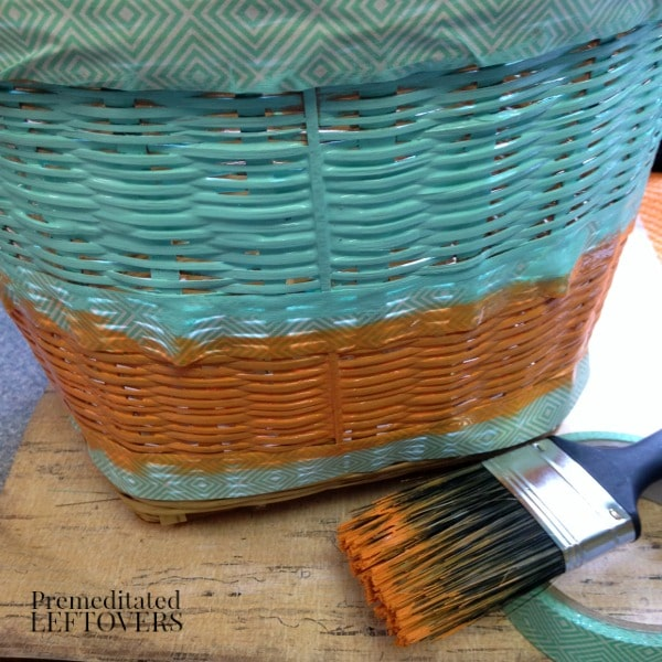 DIY painted basket tutorial