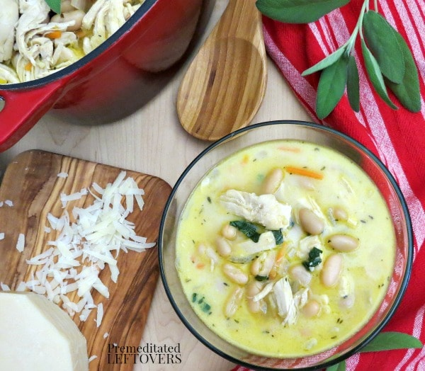 Creamy Tuscan White Bean and Chicken Soup- Prepare this creamy soup for a hearty meal with a Tuscan flair. It's a quick and easy take on an old favorite.