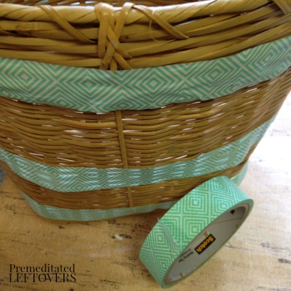 how to paint a wicker basket