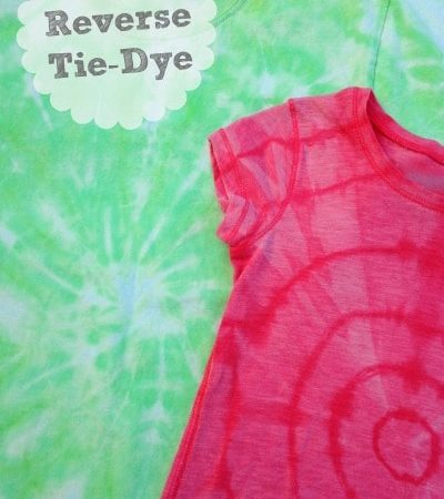 How to Reverse Tie Dye a T-Shirt