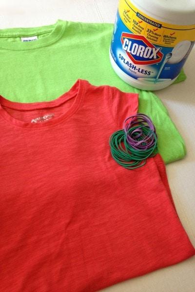DIY Reverse Tie Dye Supplies