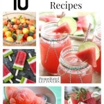10 Awesome Watermelon Recipes including how to make cupcakes from fresh watermelon, watermelon drinks, and how to cut up watermelon with less mess.