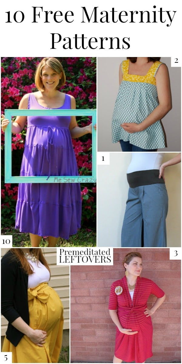 10 Free Maternity Patterns