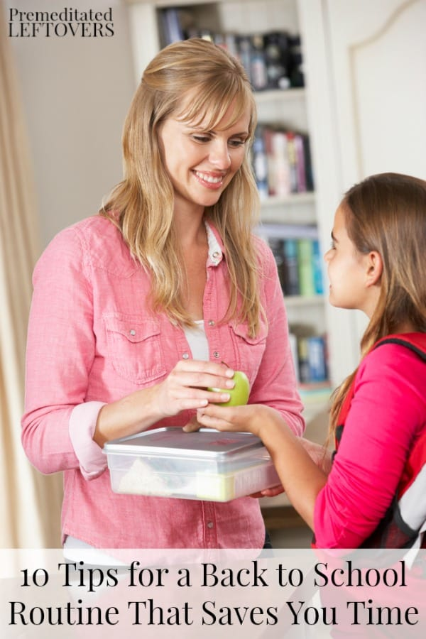 Prepare lunches the night before for a smoother back to school routine