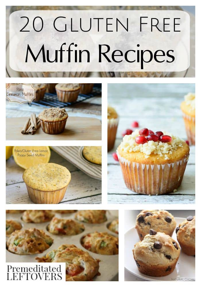 20 Delicious Gluten-Free Muffin Recipes: A wide variety of gluten-free muffins - some sweet, some savory, and all work well for gluten-free batch cooking.