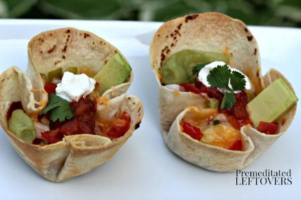 Chicken Tortilla Cups Recipe