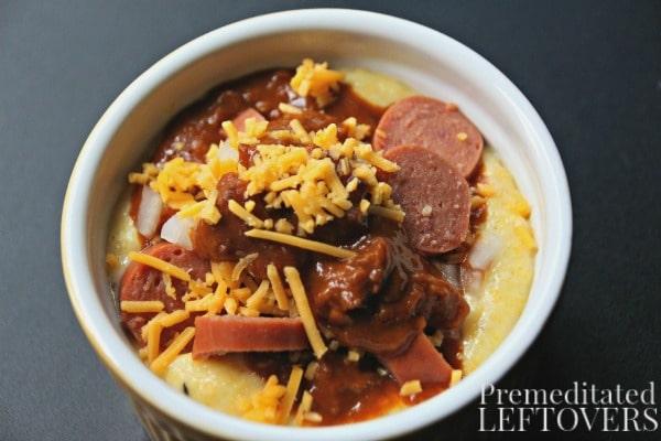 Corny Chili Dog Muffin Recipe served in ramekins