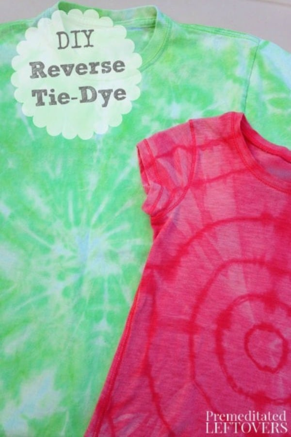 How To Reverse Tie Dye A T Shirt Using Bleach And Rubberbands