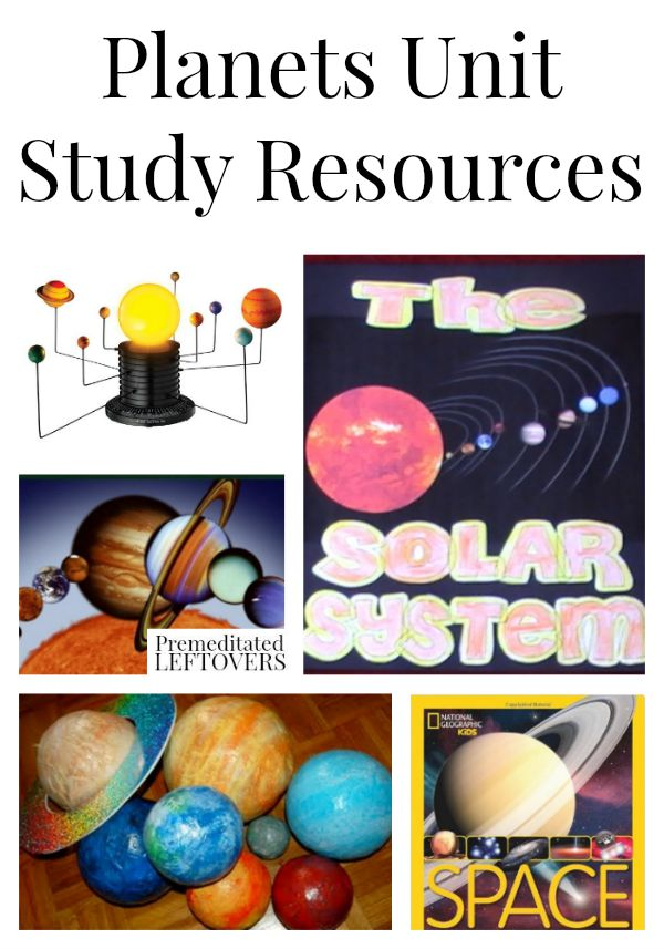 Planet Unit Study Resources-Fun and factual study resources for building your own Planet Unit lesson. This includes lesson plans, crafts, videos, and more.