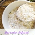 Homemade Lavender Infused Poison Ivy Bath Soak: This lavender poison ivy bath soak has the ingredients needed to help soothe itch and even dry out the rash.