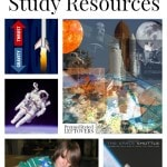Space Flight Unit Study Resources including information on life in space, educational videos on space travel, and lesson plan ideas for space flight.