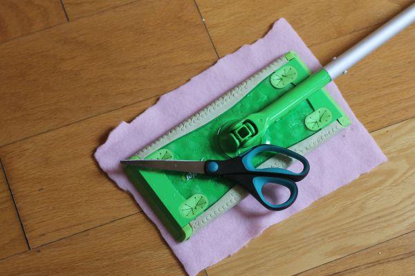 diy swiffer pad cut