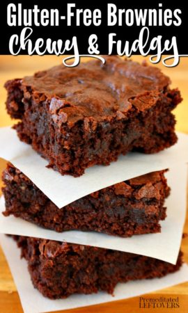 A gluten-free brownies recipe - a chewy and fudgy brownie recipe.
