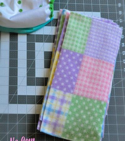 No Sew Cloth Diaper Liners Finished
