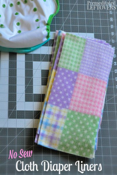 No Sew Cloth Diaper Liners-Cloth diaper liners are helpful to have on hand.These No Sew Cloth Diaper Liners are an easy project despite your sewing ability.
