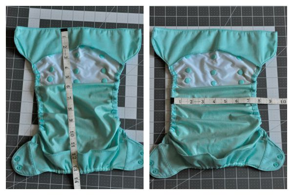 No Sew Cloth Diaper Liners Measurement