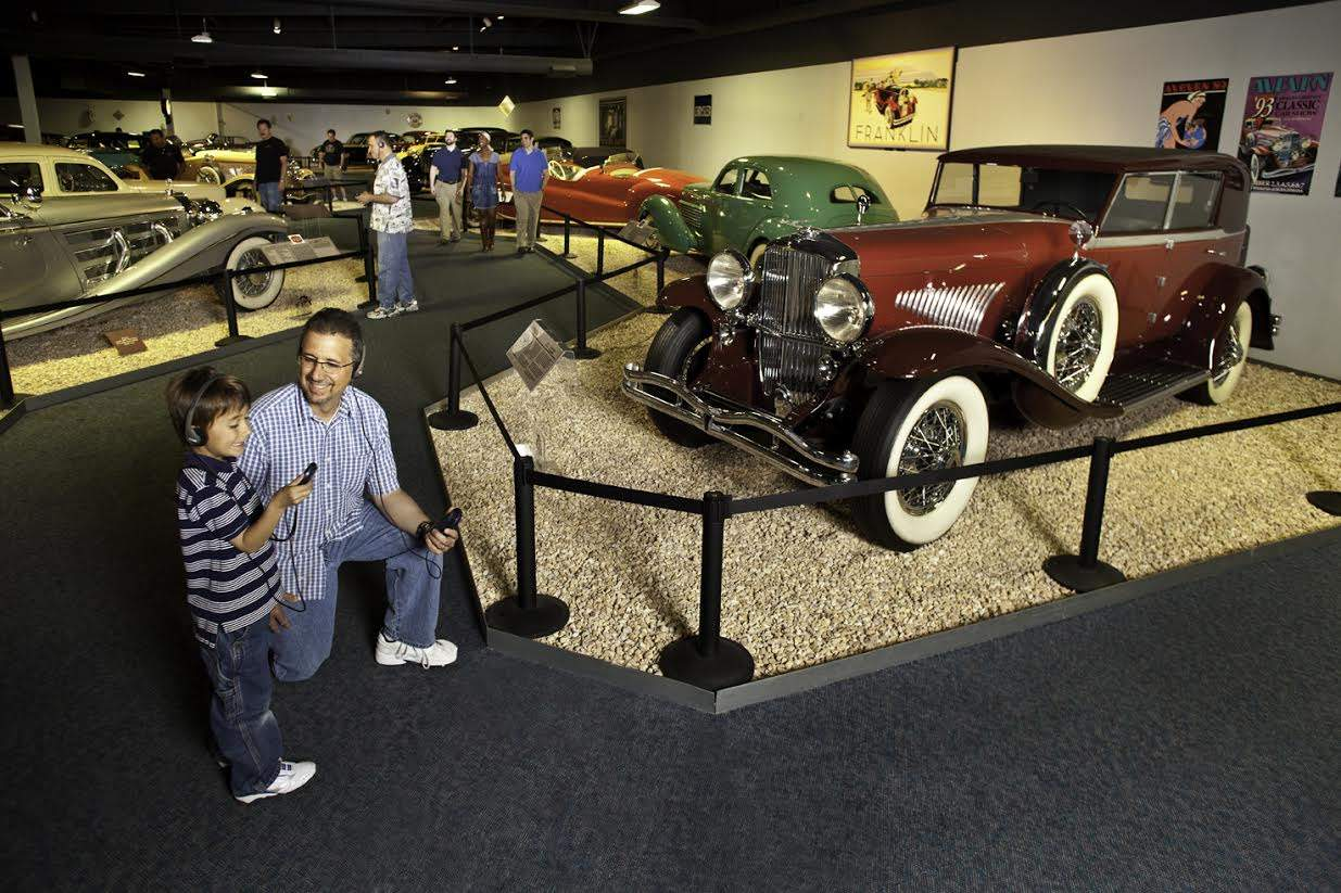 Family-friendly activities at the national automobile museum in Reno, Nevada