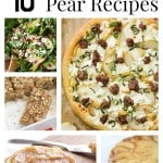 10 Delectable Pear Recipes- Learn how to freeze pears and delicious ways to use them with these 10 recipes. You will find appetizers, desserts, and more.
