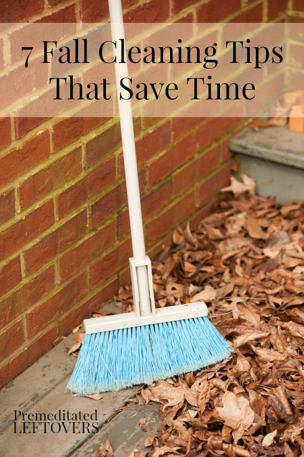 7 Fall Cleaning Tips That Save Time - Here are 7 time-saving fall cleaning tips to help you clean and get rid of clutter before winter hits.