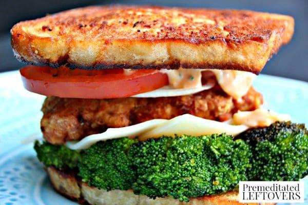 Chicken, Broccoli, and Tomato Sami