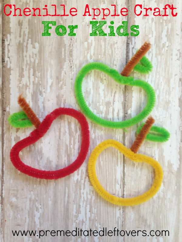 pipe cleaner craft ideas diy chenille apple craft for 5206