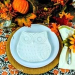 Owl Themed Fall Tablescape