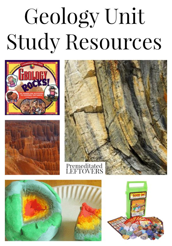 Geology Unit Study Resources- If you are looking to add fun activities or crafts to your geology unit, here are some excellent resources to get you started.