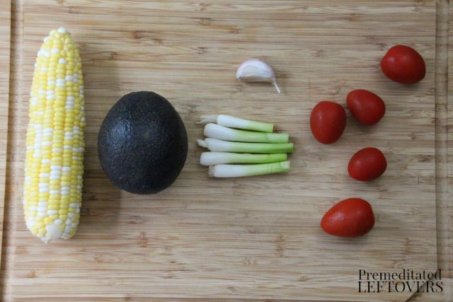 Pan Fried Corn Salad ingredients