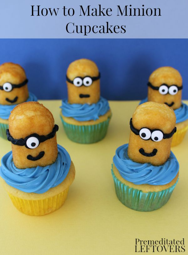 How to Make Minion Cupcakes - Learn how to make a Minion using Twinkies to make Minion Cupcake Toppers. Have the best Minion themed party by learning how to make Minion Twinkies.
