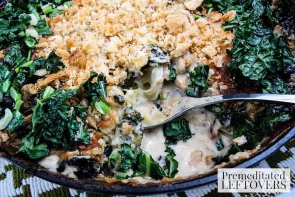 Potato Gratin with Zucchini and Kale