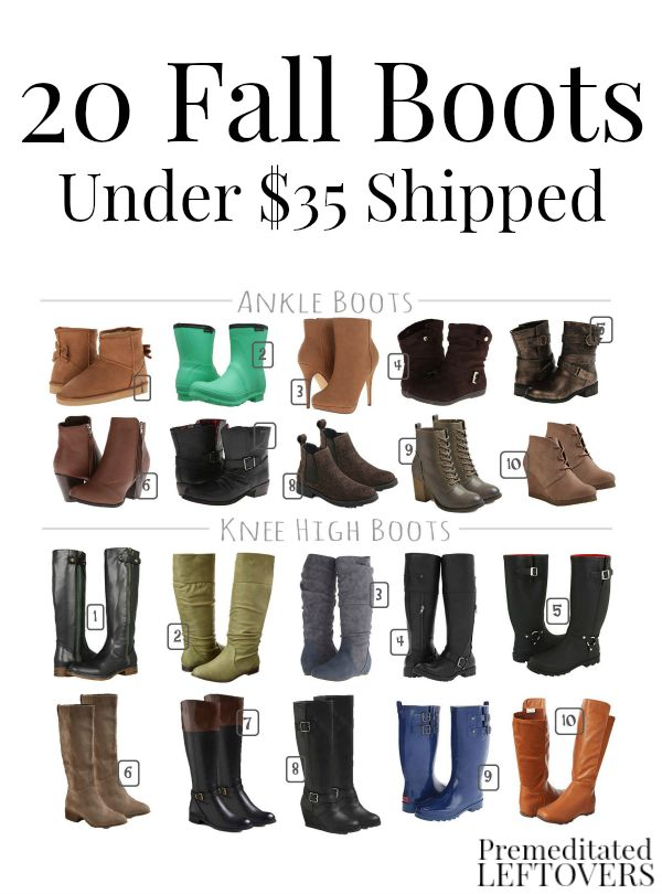 20 New Fall Boots for Women Under $35