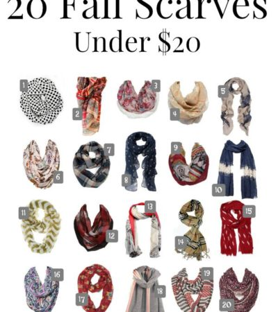 Round Up of 20 Fall Scarves Under 20 dollars