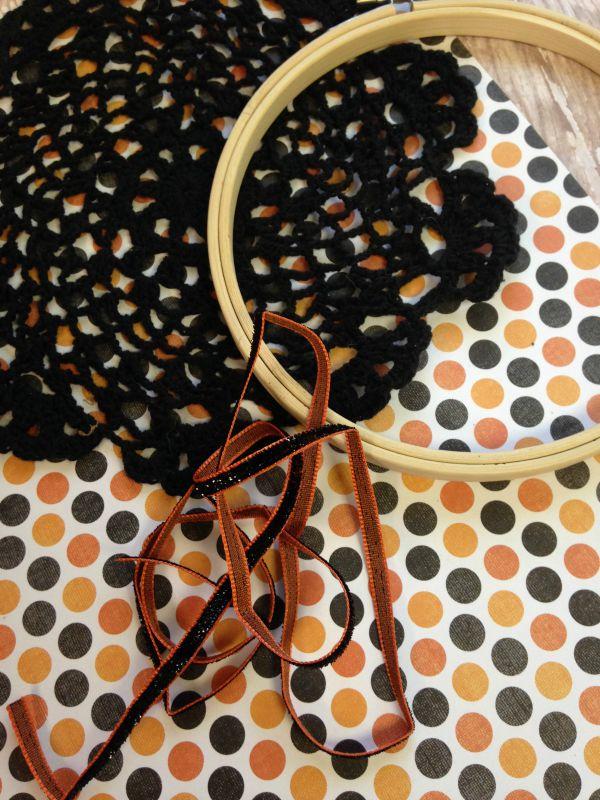 DIY Doily Spiderweb Craft for Kids materials