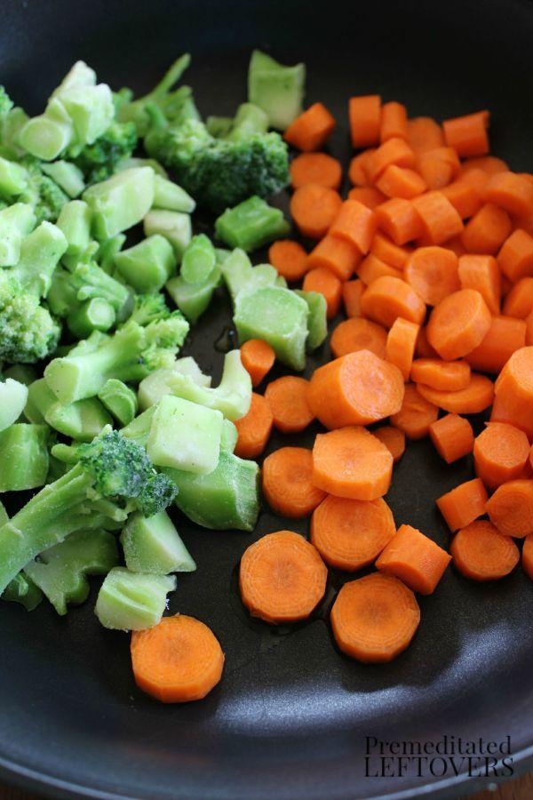 Vegetables Ready for Stir Fry
