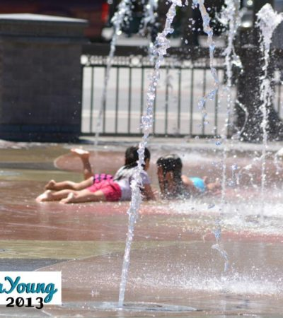 Water Play at the Victorian Fountains
