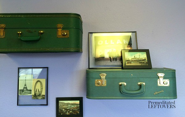 You can make shelves out of vintage suitcases