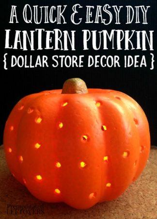 a diy lantern pumpkin