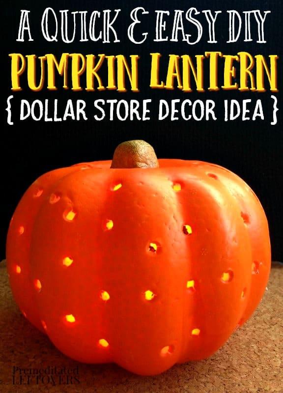 a diy pumpkin lantern