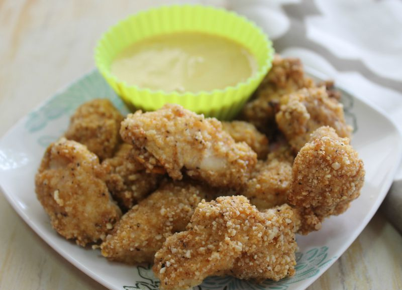 Gluten-Free Chicken Nuggets with Maple Mustard Sauce