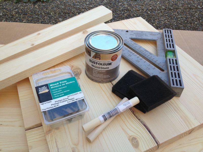 DIY Record Box materials