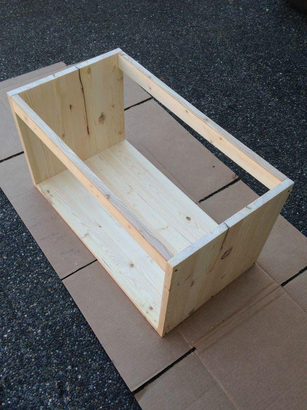 DIY Record Box finished box