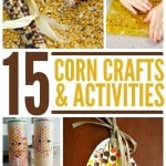 15 Corn Crafts and Activities for Kids- You can teach kids everything from art to agriculture with these cool corn activities. Each one is fun and frugal!