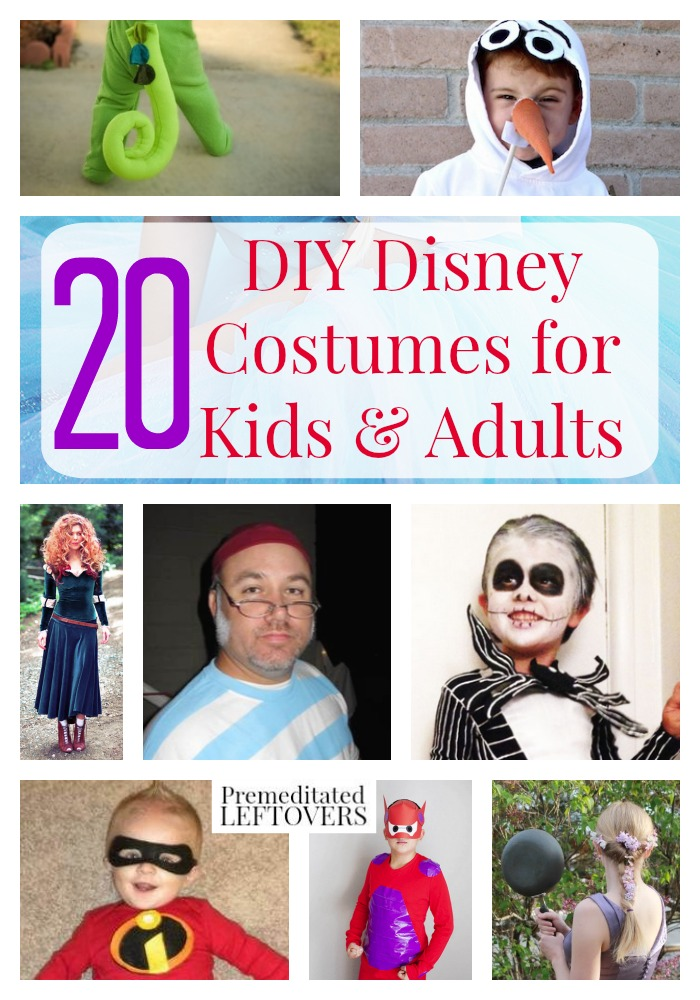 20 DIY Disney Costumes for Kids and Adults- There is something for the whole family included in these 20 homemade Disney costumes. Make one this Halloween!